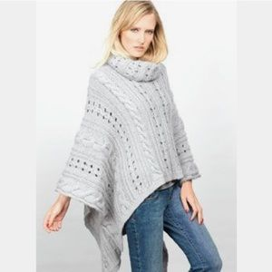 Wooden Ships Cable Knit Poncho
